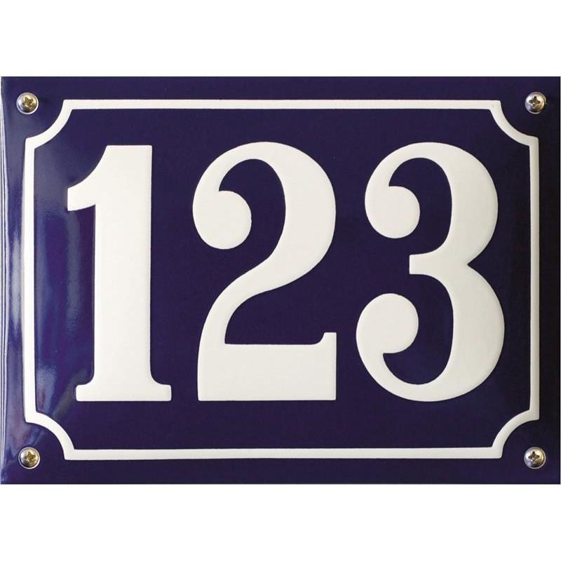 Emaille Hausnummer Pommern Art 22x16cm