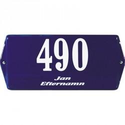 EMAILLEHAUSNUMMERMIT NAME RAHMENMIT OHREN 20X10 CM