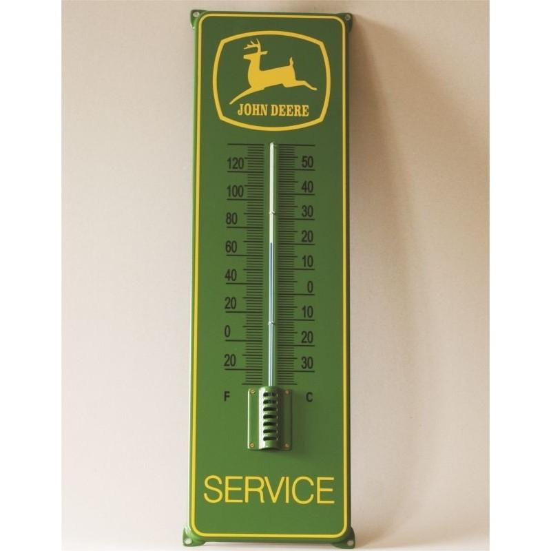 Thermometer 21x75 cm mit Ohren John Deere