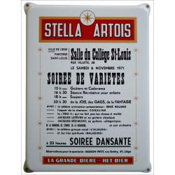 Stella Artois Werbung Schild Emailleschild
