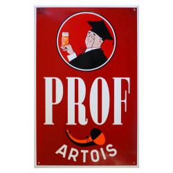 Prof Artois Bier Emailschild