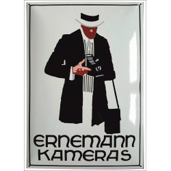 Ernemann Kameras Emailleschild Emailschild Enamel Sign