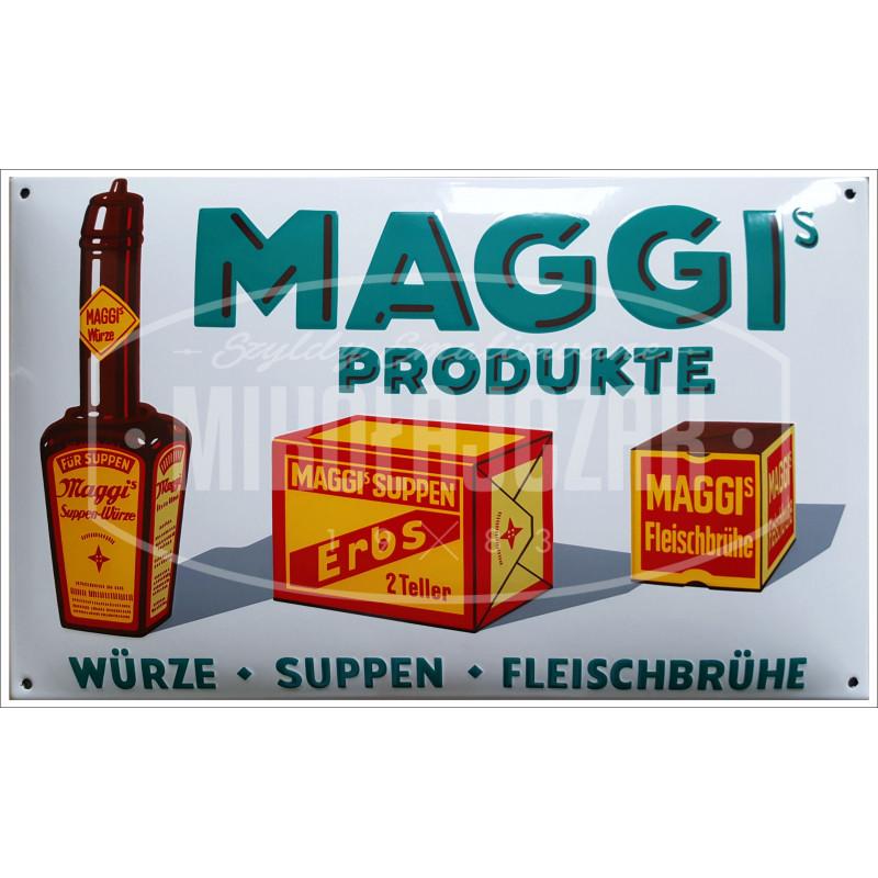 Maggis Produkte Emailleschild