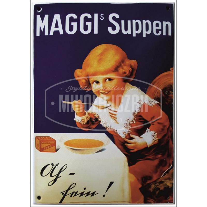 Maggis Suppen klein Emailleschild