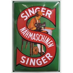 Singer Nähmaschine Emailleschild