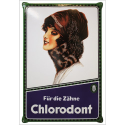 Chlorodont Emailleschild