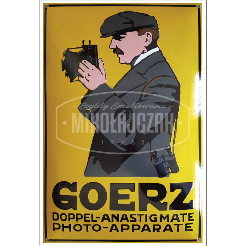 Goerz Photo Apparate Emailleschild