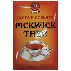 Pickwick Thee Douwe Egberts Emailleschild 40x60cm - Kopien und Repliken