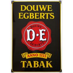 Douwe Egberts Tabak Emailleschild mit Ohren