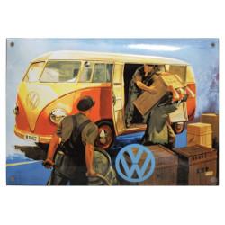Volkswagen Vintage VW Emailleschild 30x20cm - Emaille Kopien und Repliken