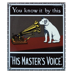 "RCA Victor You Know it by this ""His Master's Voice"" Blechschild 22x25cm plat"