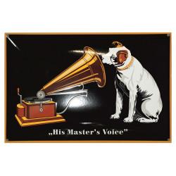 His Master's Voice 60 x 40cm Emailleschild gewölbt Hund Grammophon - Emaille Kopien und Repliken