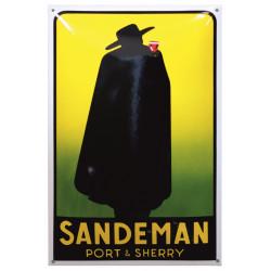 Sandeman Port & Sherry Emailleschild Werbung 40x60cm