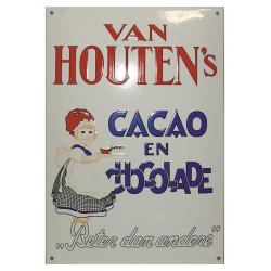 Van Houten's Cacao en Chocolade Emailleschild