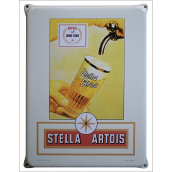 Stella Artois Emailleschild 30x40cm mit Ohren