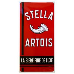 Stella Artois Emailleschild 36x74cm gebogene Kanten