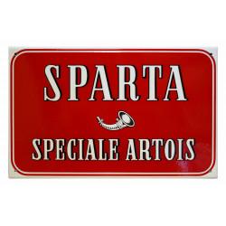 Sparta Speciale Artois Bier Emailleschild 40x25cm