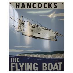 Hancocs Flying Boat Emaille Schild