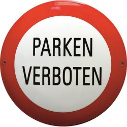 Parken Verboten Emailleschild