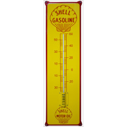 Shell Gasoline Emaille Thermometer 21x75 cm mit Ohren
