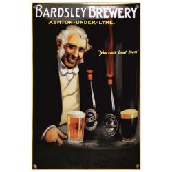 Bardsley Brauerei Bier Emailschild 20x30cm gewölbt