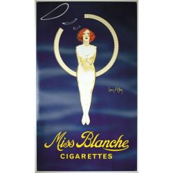 Miss Blanche Cigarettes Emailleschild 60x100cm gebogene Kanten