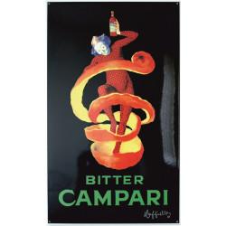 Bitter Campari Emailleschild 60x100cm gebogene Kanten