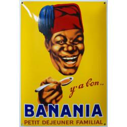 Banania Petit Déjeuner Familial 40x60cm Emailleschild