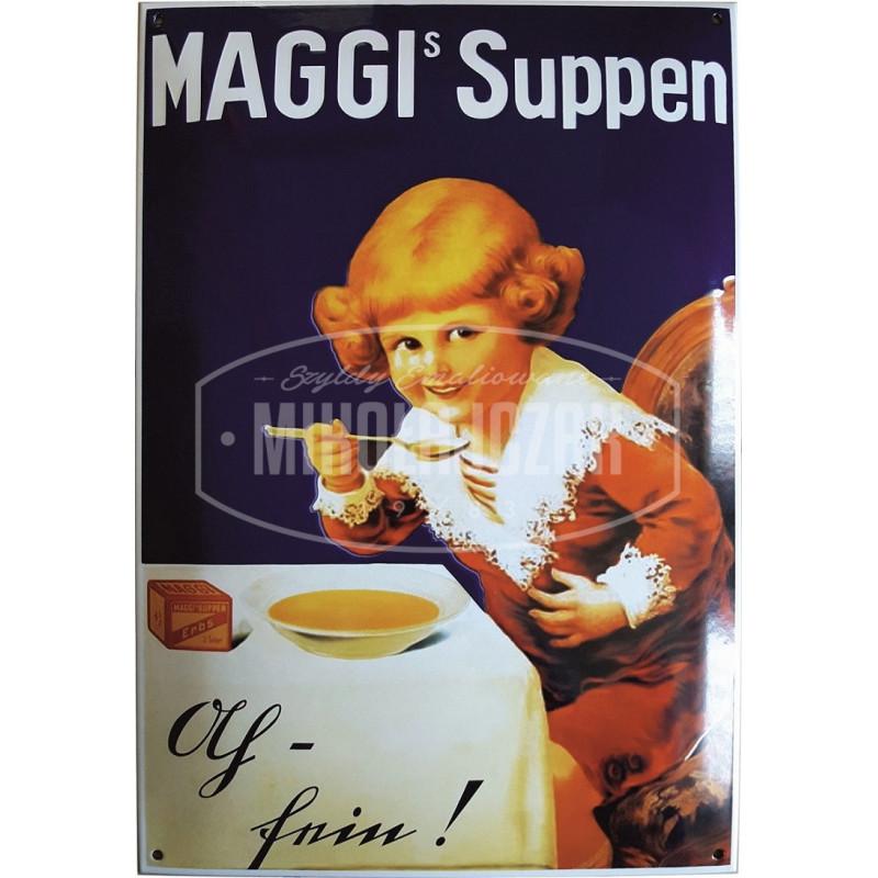 Maggi Suppen Emailleschild 35x50cm