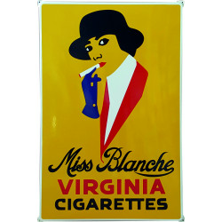 Miss Blanche Virginia Cigarettes Emailleschild 80x120cm mit Ohren