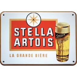 Stella Artois La Grande Bière Emaille Bord 48x30cm