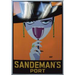 Sandeman Port Emailleschild 69,5x100cm gebogene Kanten