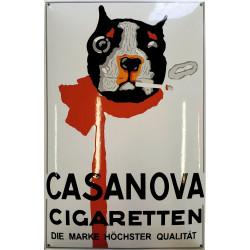 Casanova Cigaretten Emailleschild 40x60cm gewölbt weiß