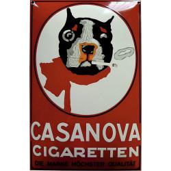 Casanova Cigaretten Emailleschild 40x60cm gewölbt rot