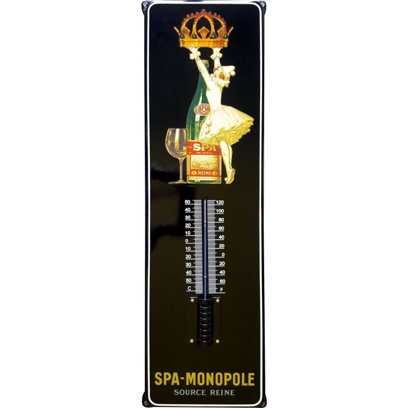 SPA Monopole Emaille Thermometer 21x75 cm mit Ohren