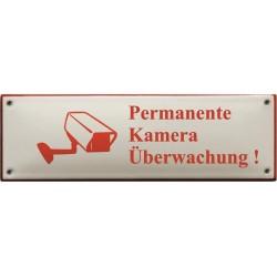 Emaille Verbotschilder Kamera 22,5x7cm konvex
