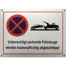 Unberechtigt Parken -  Verbotsschilde