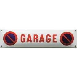 Emaille Verbotschilder Parken verboten  33x8cm  konvex