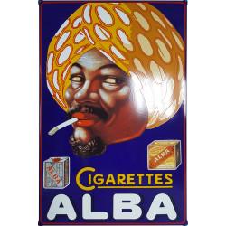 ALBA Cigarettes Emailleschild 80x120cm - Emaille Kopien und Repliken