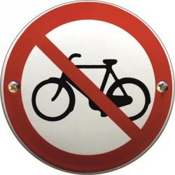 Emaille Verbotschilder Fahrrad verboten  10cm  konvex