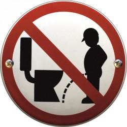 Emaille Verbotschilder Keine Toilette  10cm  konvex