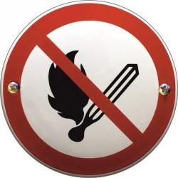 Offenes Feuer verboten Emaille Schild