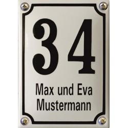Hausnummer mit Name Niederländisch  10x14 cm, gewölbt