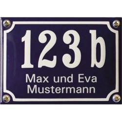 Hausnummer mit Name Niederländisch  14x10 cm, gewölbt