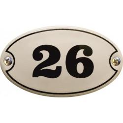 Emaille Türschild Oval 6x3,5cm