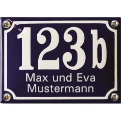 Emaille Hausnummer mit Name Pommern 14x10 cm, gewölbt