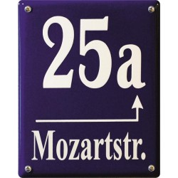 Emaille Hausnummer Münchner 20x25cm