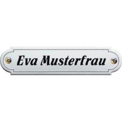 Emaille Namenschild Klassische, gewölbt 11,5x2,7cm