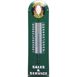 BSA Emaille Thermometer 12x43cm
