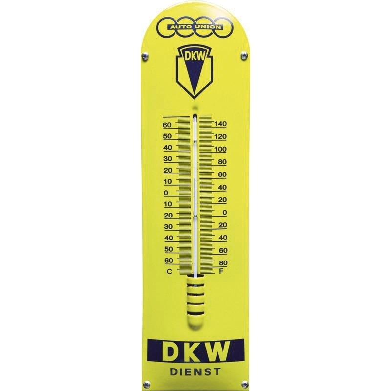 Emaille Thermometer mit DKW logo
